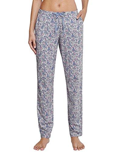 Schiesser Mix & Relax Jerseyhose Extra Lang, Pantalon de Pyjama Femme Blau (Jeansblau 816)