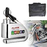 Bike Lock,Anti-theft Alarm Disc Lock Waterproof Disc Brake Lock with 110db Alarm Sound