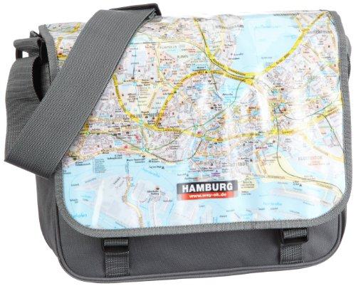 Hamburg - Kurier-Tasche mit Stadtplan -