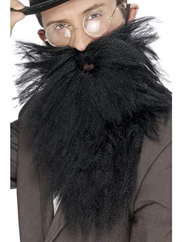 Halloweenia - Kostüm Accessoires Zubehör Langer wuscheliger Herren Vollbart mit Schnurrbart, perfekt für Karneval, Fasching und Fastnacht, Schwarz (Lange Spitzbart Kostüm)