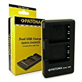PATONA Dual Schnell-Ladegerät NP-BG1 für Akkus Sony Cyber-Shot DSC H55 H70 H90 HX10V HX20V HX5V HX7V HX9V WX1 WX10 inkl. Micro USB Kabel