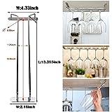Angker con copa de vino de cristal Copa colgadores de rack soporte con tornillos cristal accesorio de, Copa de vino rack, champán cristal accesorio de, acero inoxidable, Single Rail