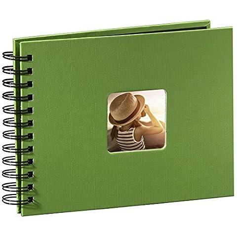 Hama Fotoalbum Spiralalbum (50 schwarze Seiten, 25 Blatt, Größe 24 x 17 cm, mit Ausschnitt für Bildeinschub) Fotobuch