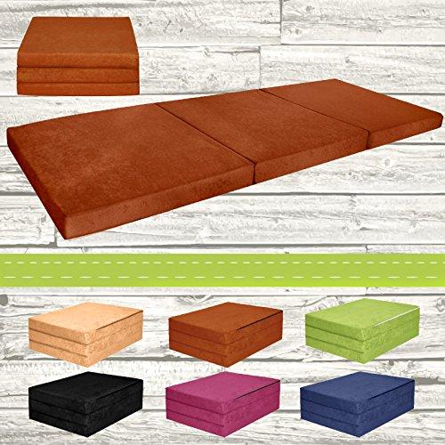 Materasso-pieghevole-per-ospiti-letto-per-letto-Ospite-futon-Pouf-195-x-80-x-9-cm-colore-Marrone