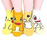 Pokemon Women's Ankle Socks 4pairs(4color)=1pack Made in Korea
