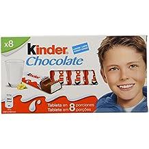 Kinder Chocolate Barritas de Chocolate con Leche - Pack de 8 x 12.5 g - Total