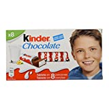 Kinder Chocolate Barritas de Chocolate con Leche - Pack de 8...
