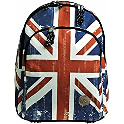 Mochila Escolar Doble Union Jack by BUSQUETS
