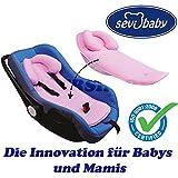 Rückeneinlage / Schoner für Babyschale Kissen Autositz Sevibaby Kopfstütze ROSA