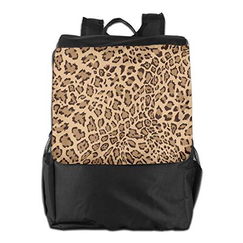 Print-laptop-tasche (Schultaschen Schule Laptoptasche Reisetasche Leopard Print Animal Leopard Background Outdoor Shoulder Backpack Tavel Bag Daypack School Laptop Bag for Women Men Kids Daypacks)