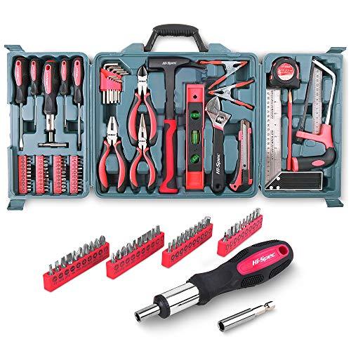 Hi-spec kit di attrezzi per la casa da 71 pezzi, tra cui la maggior parte degli attrezzi manuali per il fai-da-te per uso domestico - seghetto, cacciaviti, martello a granchio e altro