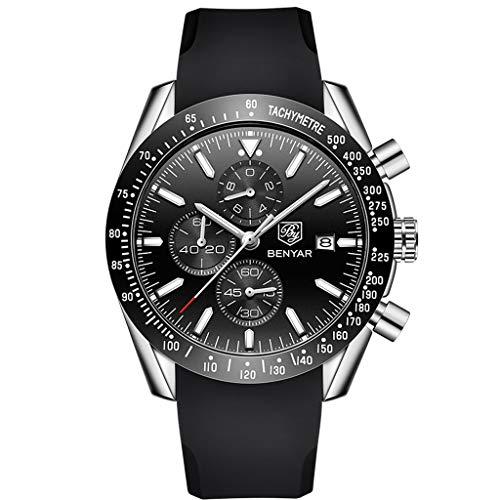 Armbanduhren männer Herrenuhr Herren BENYAR Men Business Silica Gel Quartz Casual Waterproof Sport Male Wrist Armbanduhr Uhren armbanduh -