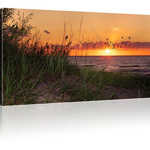 Bild auf Leinwand Sonnenuntergang Wandbild Strand Kunstdruck Natur
