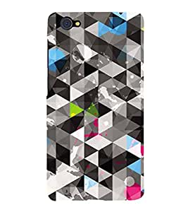 Fiobs Designer Back Case Cover for Vivo X5Pro :: Vivo X5 Pro (Lines 3D Glossy Colorfull Patterns Design )