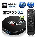 TV Box Android 8.1 L1 PRO / android box tv Amlogic S905X2 64bit / 4G DDR3+64G EMMC / Dual WIFI 2.4/5G + 100M LAN, Bluetooth 4.1/USB 3.0/AV/Dolby/3D 4K Smart TV Box