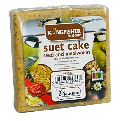 Seed and Mealworm Suet Cake - Wild Garden Bird feed. from King Fisher