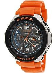 Casio G-Shock Funk - Reloj analógico de caballero de cuarzo con correa de resina roja (alarma, solar, alarma, cronómetro) - sumergible a 200 metros