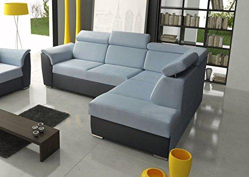 Ecksofa Sofa Eckcouch Couch mit Schlaffunktion und Bettkasten Ottomane L-Form Schlafsofa Bettsofa Polstergarnitur – MODENA II
