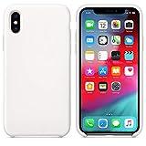 Arrivly Silicone Case Für Original Apple iPhone X Silikon Hülle Case Schutzhülle Cover Ultra Slim Dünn Silikonhülle (Weiß)