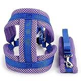 Hoyoo Hundegeschirr mit verstellbarem Riemen, Netzstoff, Weste mit Gurt, weich, für Haustiere, Hunde, Katzen, Haustiere, Zubehör für Sportarten