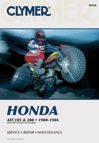 Honda Atc 185 and 200, 1980-1986: Service, Repair, Maintenance (Clymer All-Terrain Vehicles) by Inc. Haynes Manuals N. America (1986-01-01)