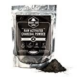Activated Charcoal Powder 226g by Moody Zook - Premium Raw Coconut Carbon Bulk - More Effective than Hardwood Charcoal - Natural Teeth Whitening, Anti-Aging Skin Care, Helps Digestion, Detoxifier
