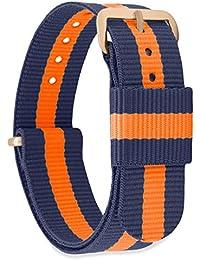 faa530e78514 MOMENTO Correa de Reloj de NATO Nailon para Mujer y Hombre con Hebilla de  Acero Inoxidable