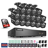 ANNKE 16-Channel 1080P Lite Surveillance DVR w/ 2TB HDD and (16) 720P Day