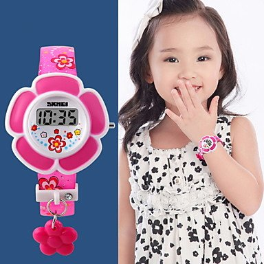 belles-montres-fleur-style-de-gamin-montre-numerique-couleur-violet-
