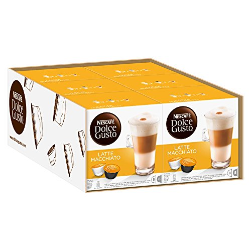 Nescafé Dolce Gusto Latte Macchiato, 6er Pack (96 Kapseln)