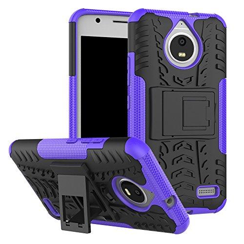 QiongniAN Cover per Motorola Moto E4,Staffa Antiurto Custodia per Motorola Moto E4 XT1760 XT1762 XT1763 XT1764 XT1767 XT1767PP XT1768 XT1769 / Moto E Gen 4 Custodia Case Cover Purple