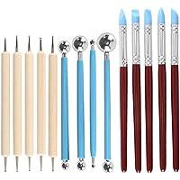Set de herramientas de modelado,LULUNA Juego de 14 pcs herramientas de cerámica y arcilla para escultura manualidades / arte de uñas