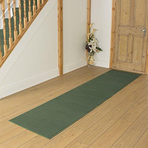 Plain Green - Long Hall & Stair Carpet Runner