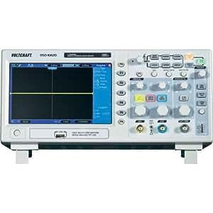 Oscilloscope numérique VOLTCRAFT DSO-1062D-VGA 60 MHz 500 Méch/s 512 kpts 8 bits 2 voies