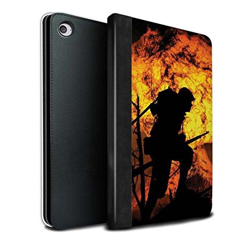 Stuff4® PU-Leder Hülle/Case/Brieftasche für Apple iPad Mini 4 Tablet/Gräben/Explosion Muster/Krieg Schlacht Video Spielen Kunst Kollektion Mini-graben