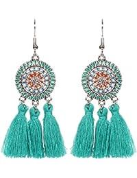 Exquisite Tassel Earrings Hoop Long Charm Drop Hook Earrings Jewelry For Women,Dangling Stud Earrings,Jewellery For Women Girls