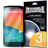 [NUOVO] INVISIBLE DEFENDER� Google Nexus 5 Pellicola Protezione Dello Schermo Screen Protector [3x PELLICOLA / Garanzia di Sostituzione a Vita] Pi� venduto premio estremamente protezione libera del mondo dello schermo per Google Nexus 5
