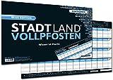 DENKRIESEN Stadt Land Vollpfosten Blue Edition - Erweiterung - Wissen-ist-Macht - Spielblock DIN-A3 Format 50 Blatt