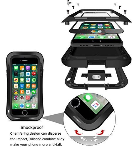 Wasserdichte Schutzhülle für Apple iPhone 7Plus iPhone 7+ (14cm), Marke Love Mei [Curve Stil] Aluminium Material mit Tempered Glas Bildschirm Bezug * 2Jahre Garantie * weiß