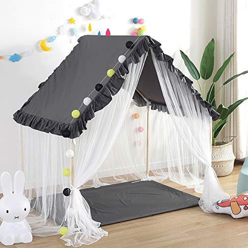 YJYRCYJLH Kinderzelt Spielhaus, bequem und komfortabel Platz (das Produkt enthält Keine Matten und Lampen),Black