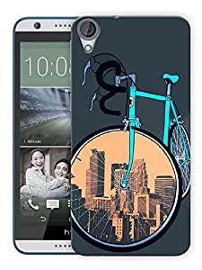 "Humor Gang Cycle Covers Cities Printed Designer Mobile Back Cover For ""HTC DESIRE 820"" (3D, Matte Finish, Premium Quality, Protective Snap On Slim Hard Phone Case, Multi Color)"
