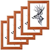 WOLTU 5er Set Bilderrahmen 20x30cm Artos Stil Holz Rahmen Fotogalerie Glasscheibe Dunkelgrau