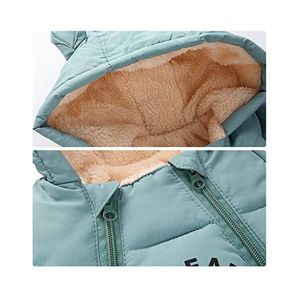 Saco de dormir para bebés 3 Tog, Recién Nacido Mangas Largas con Capucha Mameluco Invierno Frente de Cremallera 0-3 Meses,Azul