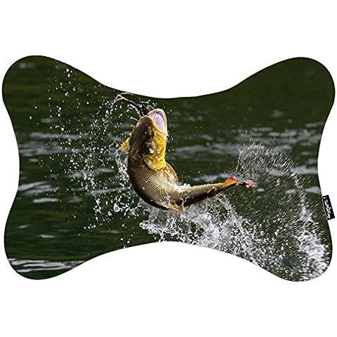i FaMuRay Bass Drops Fish Fishing Theme Cuscino da Viaggio