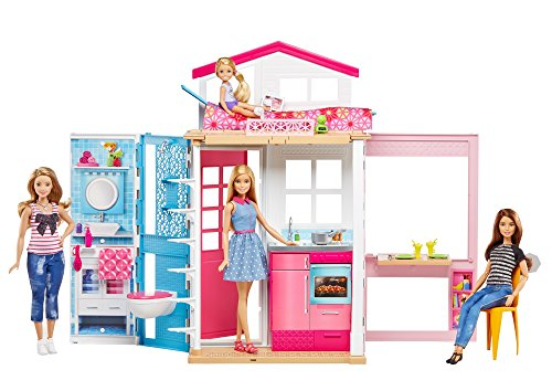 Barbie - Casa dos pisos transportable,...