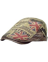 Gorras Newsboy Algodón Mujer Hombres Adulto Impresión Retro Flatcap Sombrero Verano