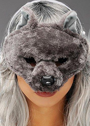Ohren Ratte Kostüm - Graue Ratte halbe Gesichtsmaske mit Ohren