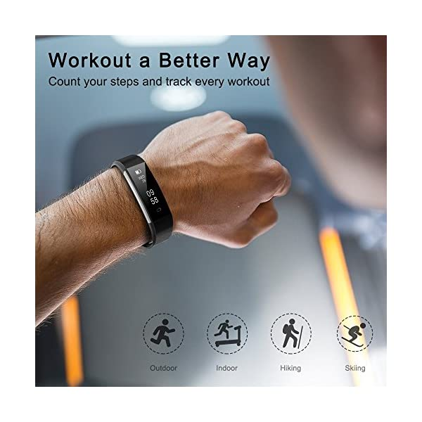 COOLEAD Fitness Tracker Pulsera Inteligente IP67 Waterproof Bluetooth Pulsera inteligente -Correa Libre 3