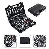 Juego de herramientas para uso doméstico (108 PCS) - acero al carbono - color negro y plata
