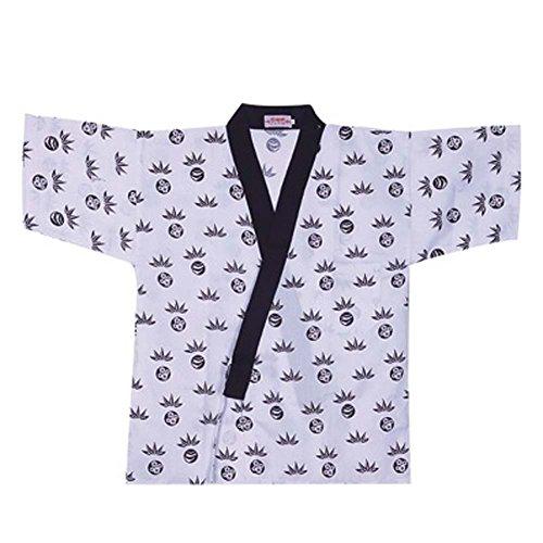 Japanische Sushi Bar Restaurant Bar Kleider Kellner halbe Ärmel Uniform Chef Jacket, # 15 (Mantel Küchenchef)